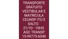TRANSPORTE GRATUITO VESTIBULAR...