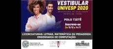 UNIVESP abre inscrições para Vestibular 1° Semestre 2020