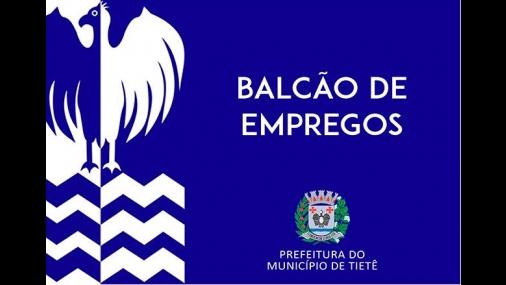 Balcão de empregos em Tietê