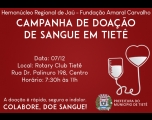 Campanha de Doação de Sangue acontece neste Sábado