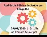Prefeitura convida para Audiência Pública de Saúde
