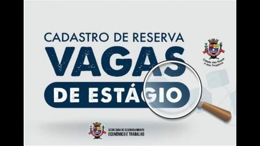 Prefeitura abre cadastro de reserva para estágio