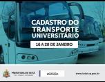 Cadastro e recadastro do transporte universitário em Tatuí
