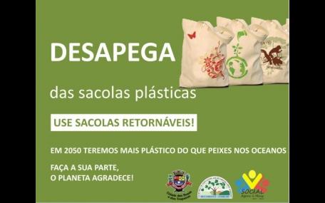 Prefeitura lança Campanha: Desapega das Sacolas Plásticas