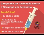 Prefeitura de Cerquilho informa sobre Vacinação contra o Sarampo
