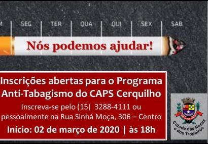 Programa Anti-Tabagismo está com inscrições abertas em Cerquilho