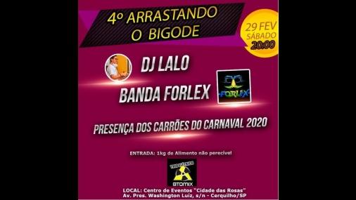 4º Arrastando o Bigode encerra programação de Carnaval