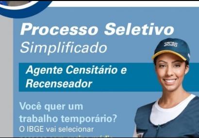 Utilidade Pública � IBGE abre processo seletivo