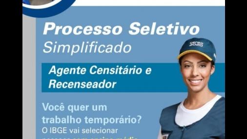 Utilidade Pública – IBGE abre processo seletivo