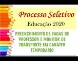 Prefeitura abre Processo Seletivo para a área da Educação