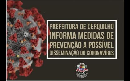 Prefeitura de Cerquilho informa sobre coronavírus