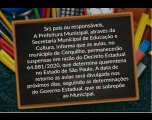 Prefeitura esclarece sobre a volta as aulas