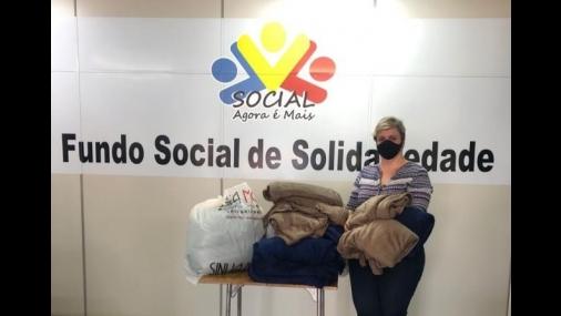 Doações da Campanha Inverno Solidário em Cerquilho