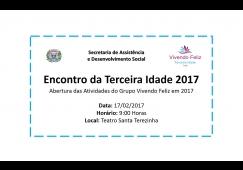 Abertura do Grupo Vivendo Feliz 2017 em Tietê