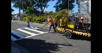 Secretaria de Segurança e Trânsito reforça pinturas de sinalizaçã