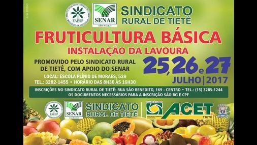 Curso de Fruticultura em Tietê