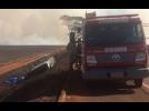 Criança e adolescente morrem em GO após carro entrar em canavial em chamas