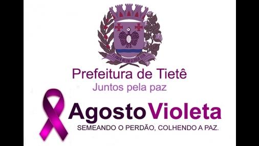 "Tietê apoia ""Agosto Violeta"" contra a violência"