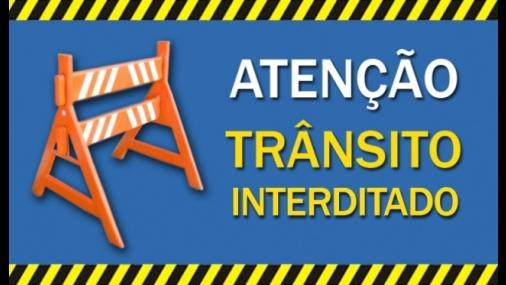 Prefeitura informa sobre interdições de trânsito