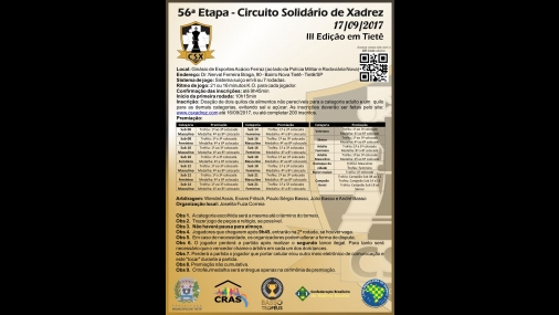 56ª Etapa do Circuito Solidário de Xadrez acontece em Tietê