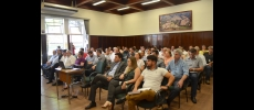 Vlamir Sandei recebe Junior Bozzella em reunião de prefeitos