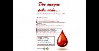 Campanha de Doação de Sangue será realizada em Tietê