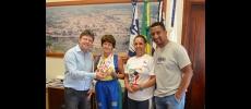 Vlamir Sandei recebe corredora master mais rápida da América do S