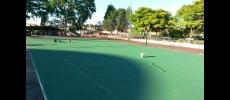 Quadra de Tênis passa por revitalização