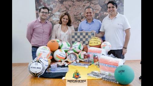 Prefeitura de Tatuí investe 300 mil na compra de material esporti