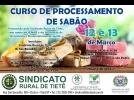 Prefeitura apoia curso de Processamento de sabão