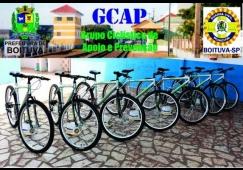 A GCM de Boituva recebeu bicicletas para auxiliar no patrulhament