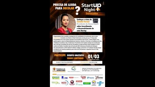 Sebrae promove Startup Night em Sorocaba