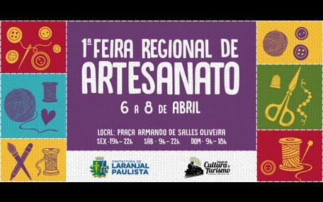 1ª Feira Regional de Artesanato de Laranjal Paulista
