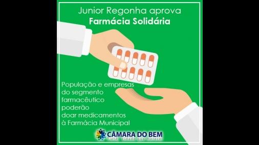 """Junior Regonha aprova """"Farmácia Solidária"""" para Tietê"""