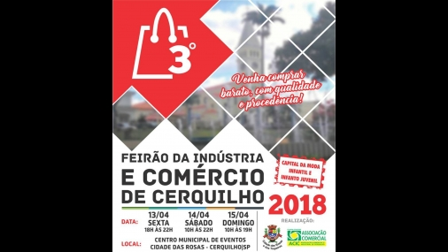 3º Feirão da Indústria e do Comércio de Cerquilho começa hoje