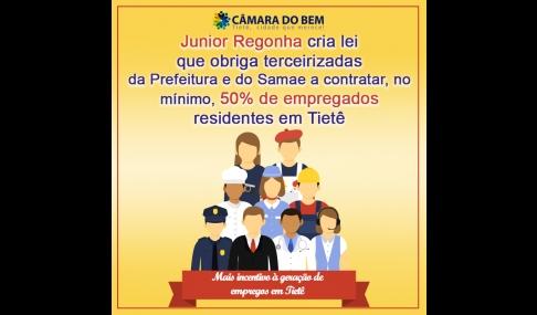 Projeto incentiva terceirizadas a contratar cidadãos locais