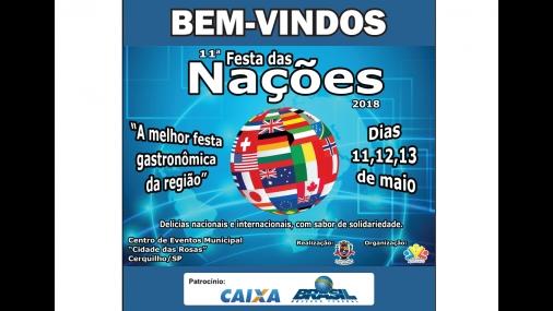 11ª Festa das Nações de Cerquilho acontece neste final de semana
