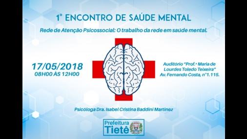 1º encontro de saúde mental em Tietê