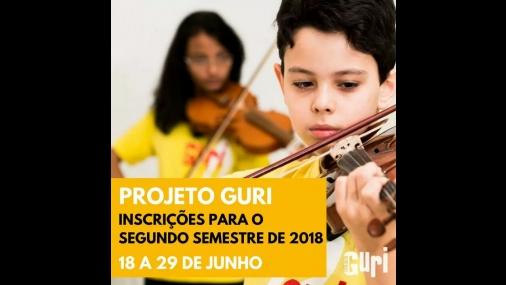 Projeto Guri informa sobre inscrições para o segundo semestre