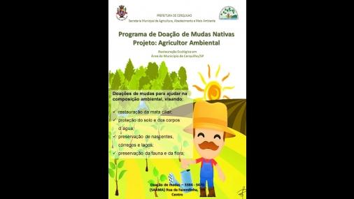Prefeitura lança Projeto Agricultor Ambiental