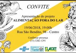 SEBRAE de Tietê oferece projeto sobre ramo de alimentação