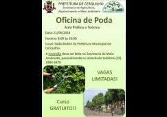 Prefeitura está com inscrições abertas para curso de poda