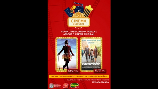 Secretaria de Cultura realiza exibição gratuita de filmes