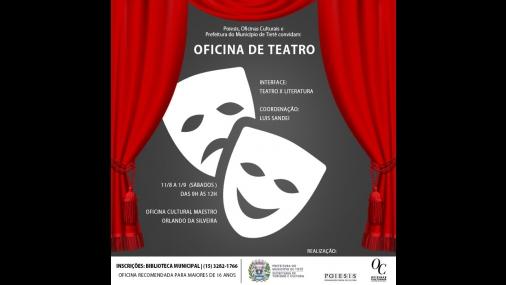 Secretaria de Cultura Oferece oficina de teatro