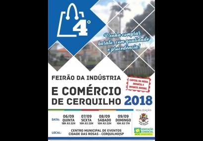 Novidades no 4° Feirão da Indústria e do Comércio de Cerquilho