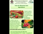 Cadastros abertos para Feira de Alimentos Sem Agrotóxicos