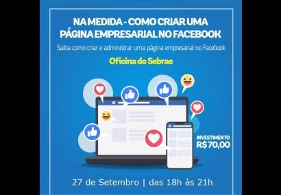 Oficina Na Medida - como criar uma página empresarial no Facebook