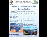Palestra sobre Energia Solar Fotovoltaica