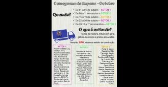 Prefeitura de Cerquilho informa cronograma de limpeza de outubro