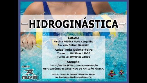 Prefeitura abre inscrições para aulas de Hidroginástica